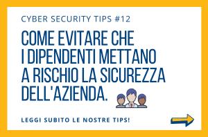 Pillole di Cyber Security TIPS #12