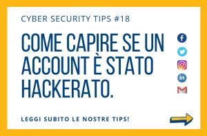 Pillole di Cyber Security TIPS #18
