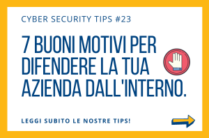 Pillole di Cyber Security TIPS #23