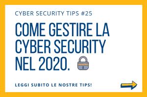 Pillole di Cyber Security TIPS #25